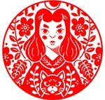 Folk Style Linocuts By MStraccia Art